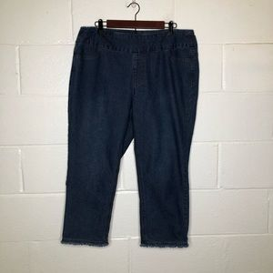 Soft Surroundings Pull On Cropped Jeans Large